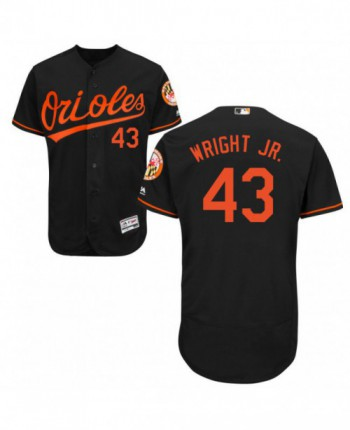 Men's Majestic Baltimore Orioles #43 Mike Wright Jr. Authentic Black Alternate Flex Base Jersey