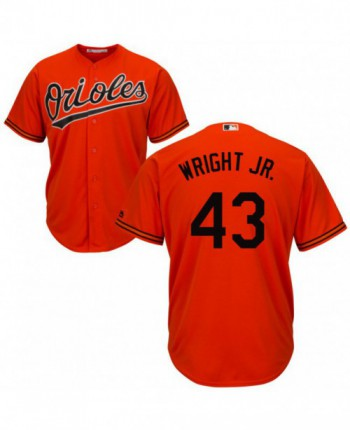 Men's Majestic Baltimore Orioles #43 Mike Wright Jr. Replica Orange Cool Base Jersey