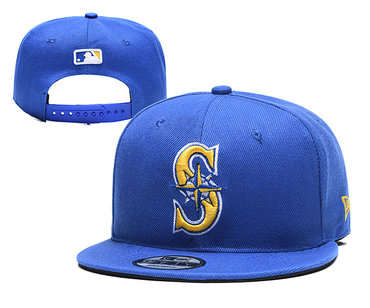 Mariners Team Logo Blue Adjustable Hat YD