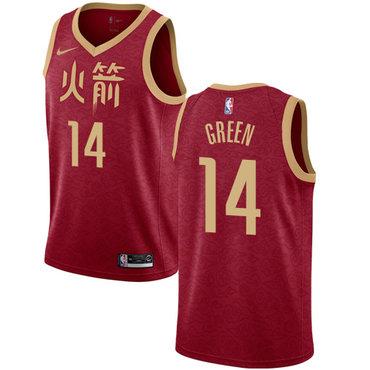 Rockets #14 Gerald Green Red Basketball Swingman City Edition 2018-19 Jersey
