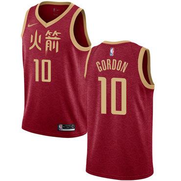 Rockets #10 Eric Gordon Red Basketball Swingman City Edition 2018-19 Jersey