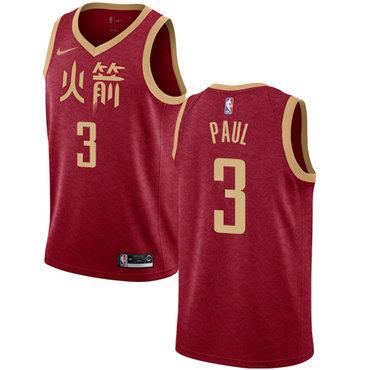 Rockets #3 Chris Paul Red Basketball Swingman City Edition 2018-19 Jersey