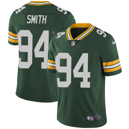 Men's Green Bay Packers #94 Preston Smith Limited Team Color Vapor Untouchable Nike Green Jersey