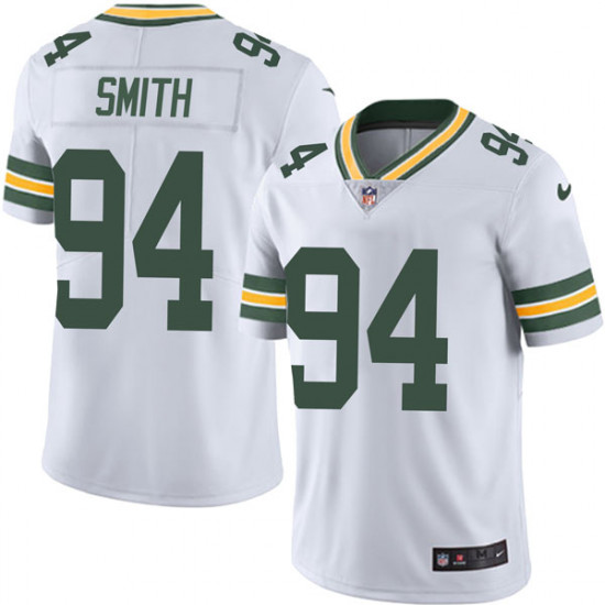 Men's Green Bay Packers #94 Preston Smith Limited Vapor Untouchable Nike White Jersey