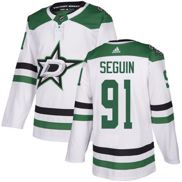Stars #91 Tyler Seguin White Road Authentic Youth Stitched Hockey Jersey