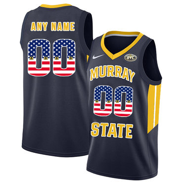 Murray State Racers Customized Navy USA Flag College Basketball Jersey