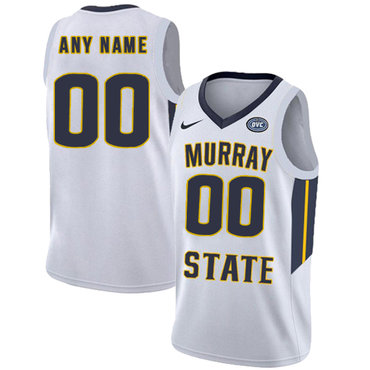 Murray State Racers Customized White College Basketball Jersey