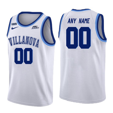 Villanova Wildcats White Men's Customized College Basketball Jersey