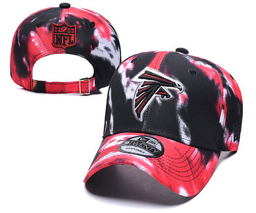 Falcons Team Logo Red Black Peaked Adjustable Fashion Hat YD