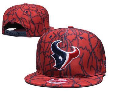 Texans Team Logo Red Adjustable Hat TX