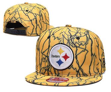 Steelers Team Logo Yellow Adjustable Hat TX