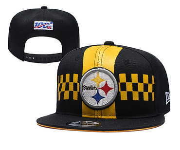 Steelers Team Logo Black 2019 Draft Adjustable Hat YD