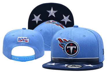 Titans Team Logo Navy Blue 2019 Draft 100th Season Adjustable Hat YD
