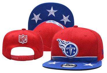 Titans Team Logo Red Blue 2019 Draft Adjustable Hat YD