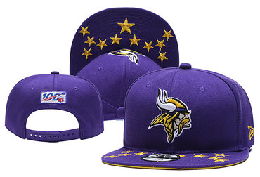 Vikings Team Logo Purple Adjustable Hat YD