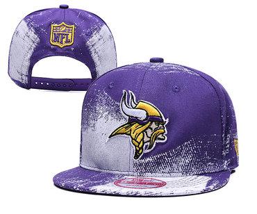 Vikings Team Logo Purple White Adjustable Hat YD