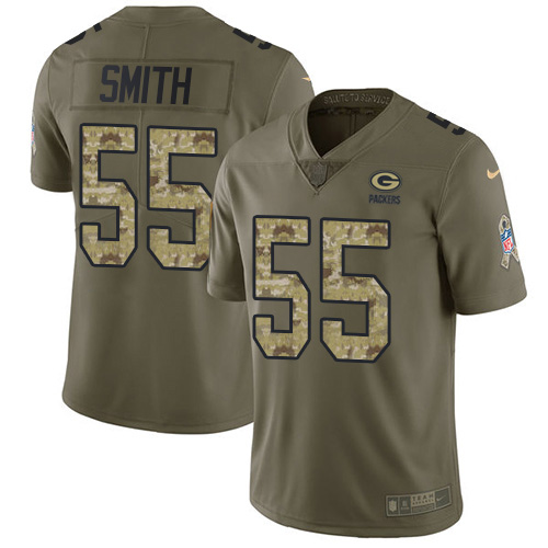 Nike Green Bay Packers #55 Za'Darius Smith Olive Camo Men's Stitched NFL Limited 2017 Salute To Service Jersey