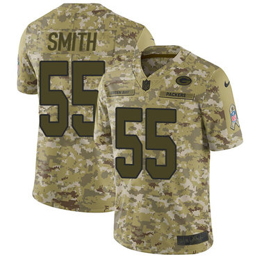 Nike Green Packers #55 Za'Darius Smith Camo Men's Stitched NFL Limited 2018 Salute To Service Jersey