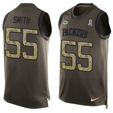 Nike Green Packers #55 Za'Darius Smith Green Men's Stitched NFL Limited Salute To Service Tank Top Jersey