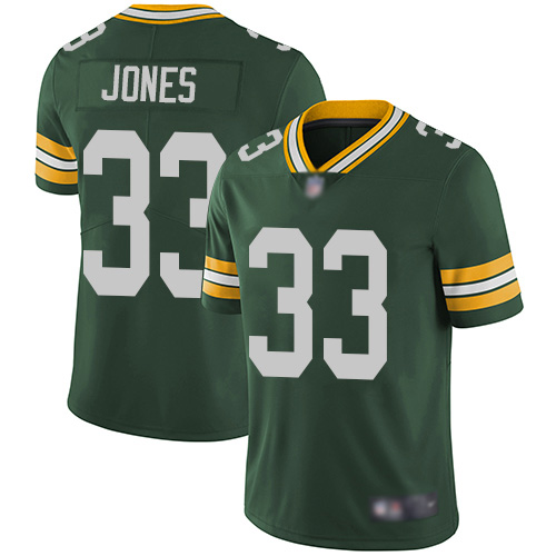 Men's Green Bay Packers #33 Aaron Jones Green Vapor Untouchable Limited Jersey