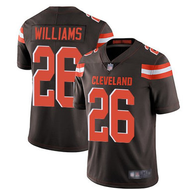 Nike Browns 26 Greedy Williams Brown Vapor Untouchable Limited Jersey