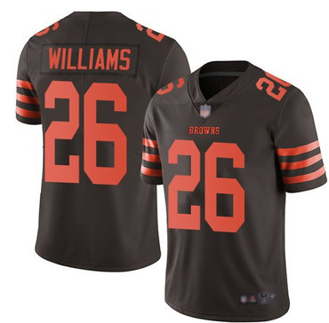 Nike Browns 26 Greedy Williams Brown Color Rush Limited Jersey