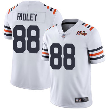 Nike Bears 88 Riley Ridley White 2019 100th Season Alternate Classic Retired Vapor Untouchable Limited Jersey