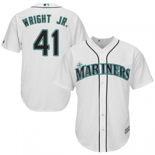 Youth Seattle Mariners #41 Mike Wright Jr. Replica White Cool Base Home Jersey