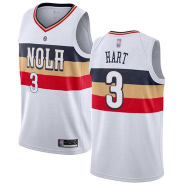 Pelicans #3 Josh Hart White Basketball Swingman Earned Edition Jersey