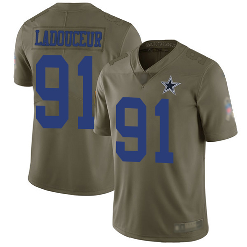Dallas Cowboys #91 L. P. Ladouceur Men's Olive Limited 2017 Salute to Service Football Jersey
