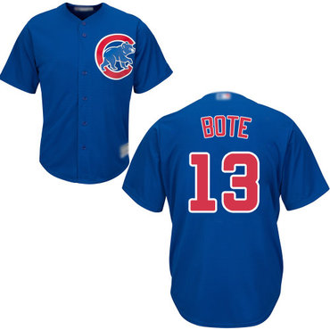 Cubs #13 David Bote Blue New Cool Base Stitched Baseball Jersey