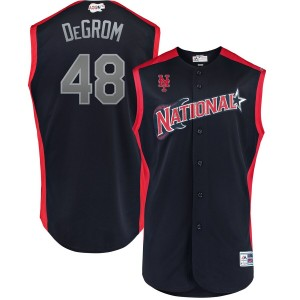 MLB National League 48 Jacob deGrom Navy 2019 All-Star Game Men Jersey