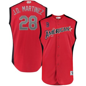 MLB American League 28 J.D. Martinez Red 2019 All-Star Game Men Jersey