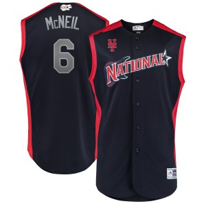 MLB National League 6 Jeff McNeil Navy 2019 All-Star Game Men Jersey