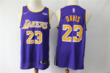Lakers 23 Anthony Davis Purple Nike Swingman Jersey