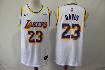 Lakers 23 Anthony Davis White Nike Swingman Jersey