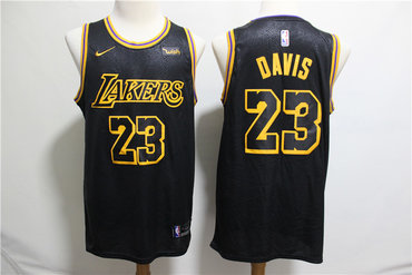Lakers 23 Anthony Davis Black City Edition Nike Swingman Jersey