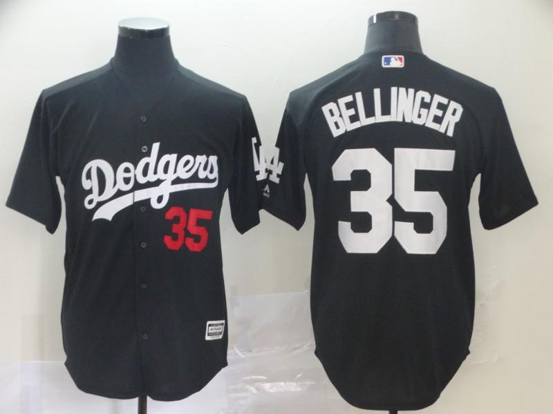 Men's Los Angeles Dodgers 35 Cody Bellinger Black Turn Back The Clock Cool Base Jersey