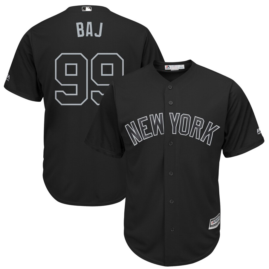 Men's New York Yankees 99 Aaron Judge BAJ Black 2019 Players' Weekend Player Jersey