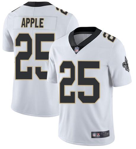 Nike Saints 25 Eli Apple White Vapor Untouchable Limited Jesey