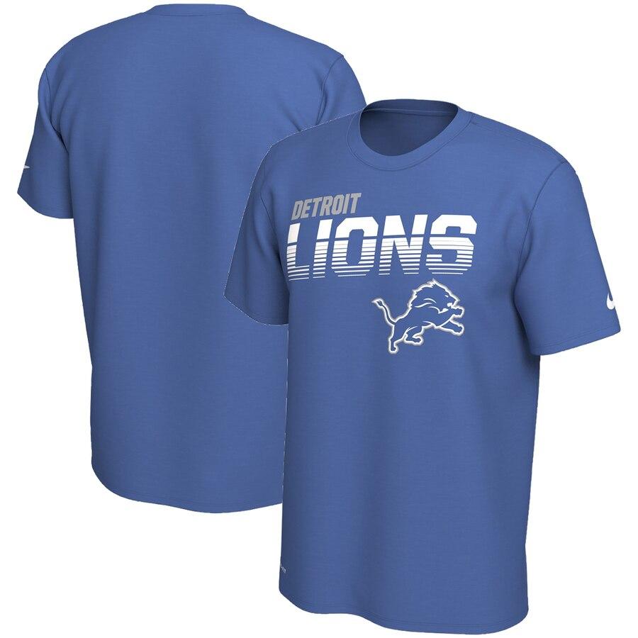 Detroit Lions Nike Sideline Line of Scrimmage Legend Performance T Shirt Blue