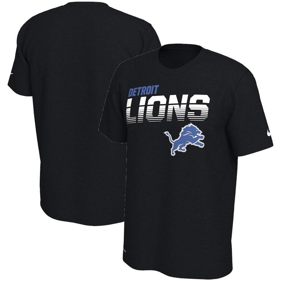 Detroit Lions Nike Sideline Line of Scrimmage Legend Performance T Shirt Black