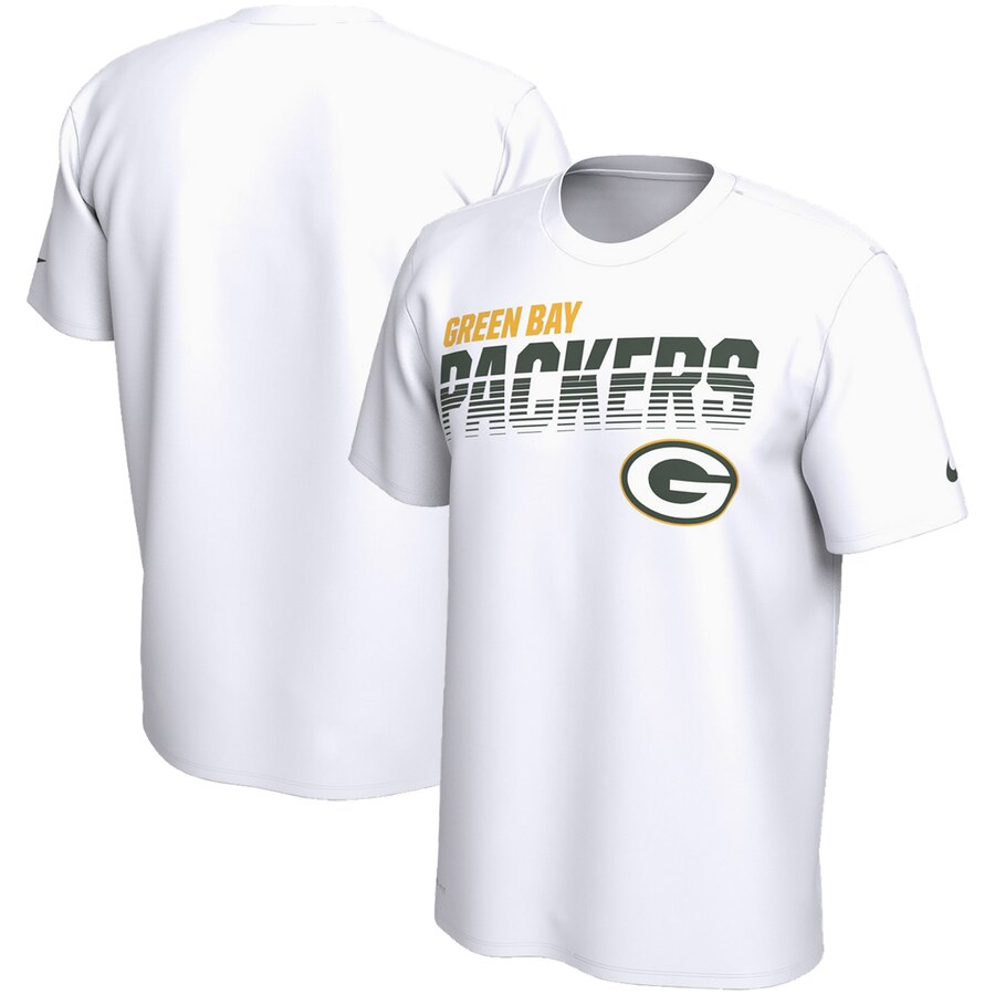 Green Bay Packers Nike Sideline Line of Scrimmage Legend Performance T Shirt White