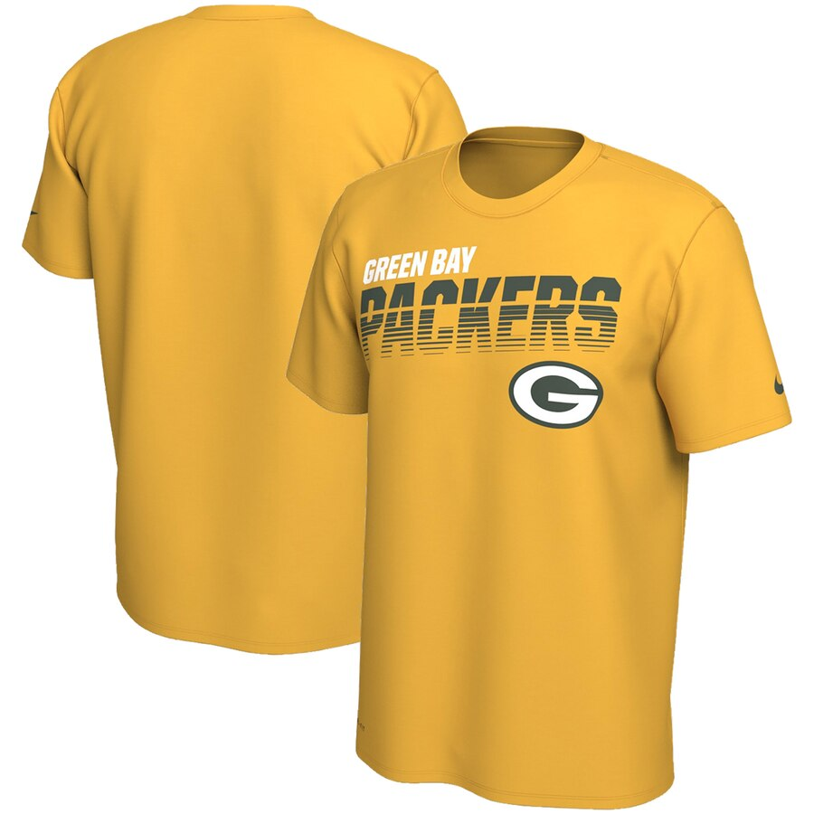 Green Bay Packers Nike Sideline Line of Scrimmage Legend Performance T Shirt Gold