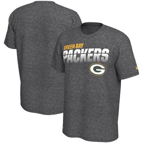Green Bay Packers Nike Sideline Line of Scrimmage Legend Performance T Shirt Heathered Gray