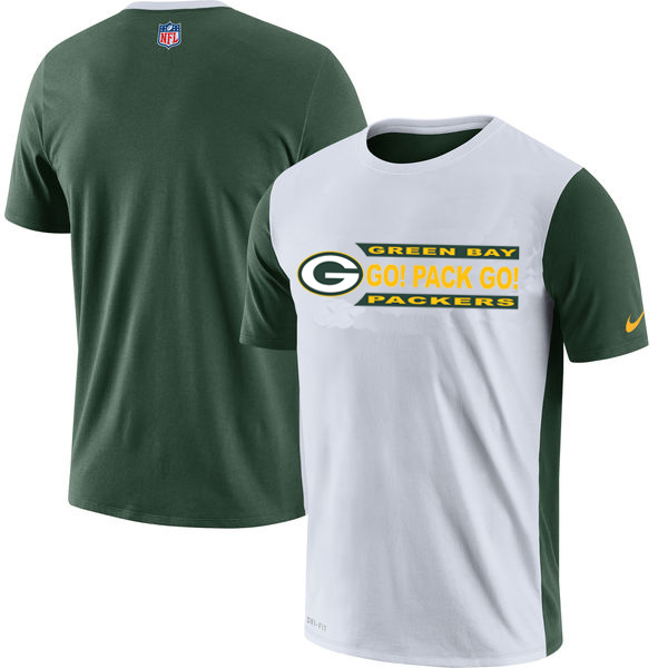 NFL Green Bay Packers Nike Performance T Shirt White