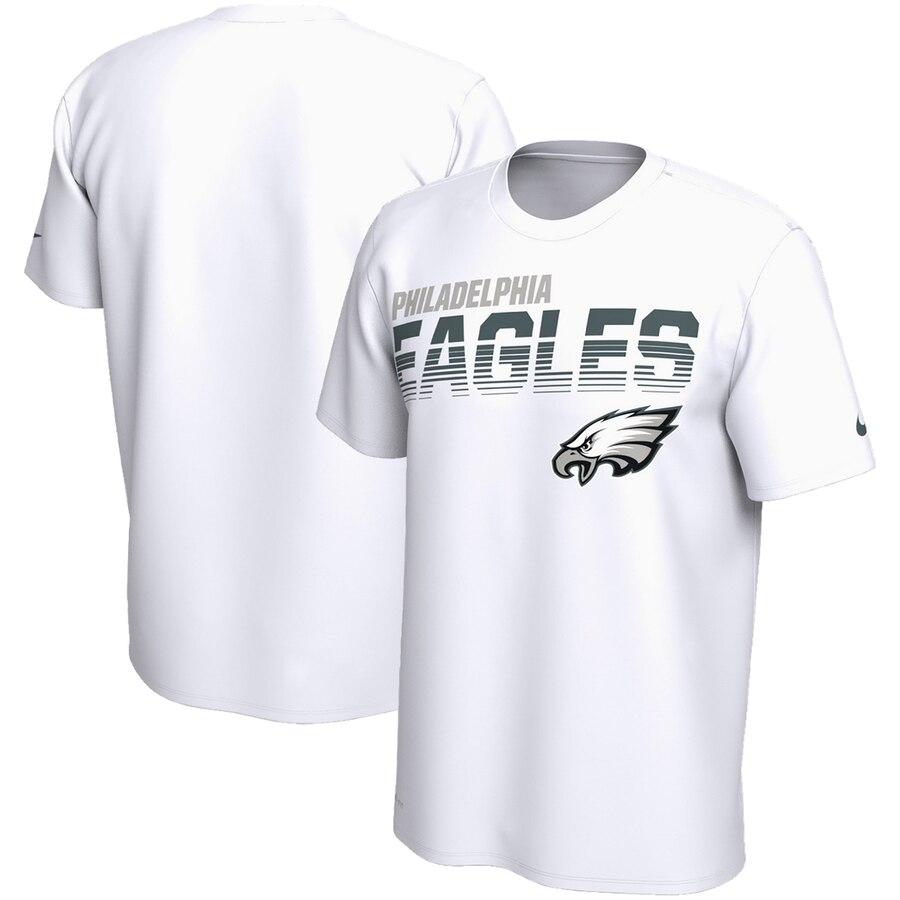 Philadelphia Eagles Nike Sideline Line of Scrimmage Legend Performance T Shirt White