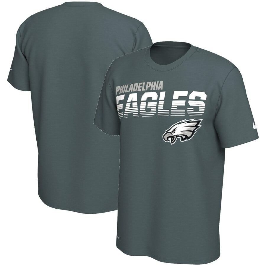 Philadelphia Eagles Nike Sideline Line of Scrimmage Legend Performance T Shirt Midnight Green