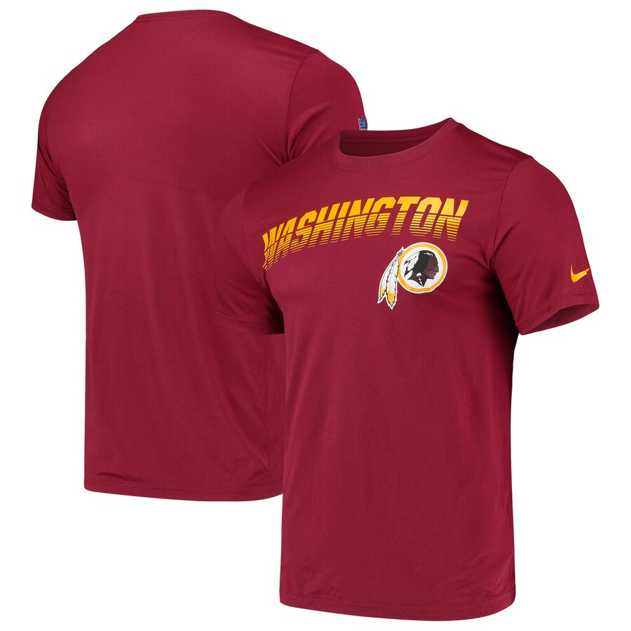 Washington Redskins Nike Sideline Line of Scrimmage Legend Performance T Shirt Burgundy