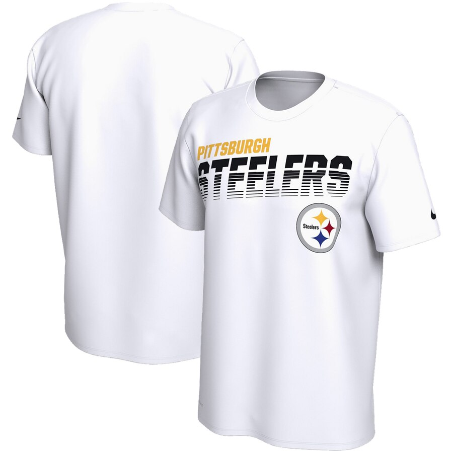 Pittsburgh Steelers Nike Sideline Line of Scrimmage Legend Performance T Shirt White